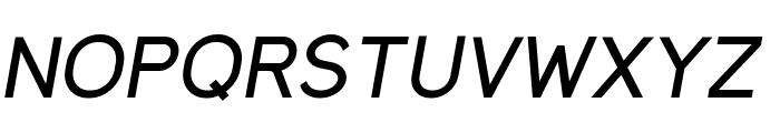 MadeynSans Regular Italic Font UPPERCASE