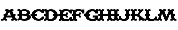 Madfont Bars Font UPPERCASE