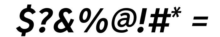 MadrasExtraBoldItalic Font OTHER CHARS