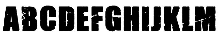 Madrid Grunge Font LOWERCASE