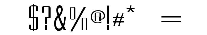 Madrid Regular Font OTHER CHARS
