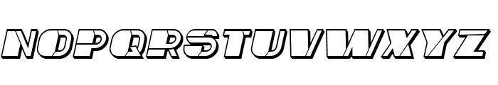 Mafia Hollow Italic Font UPPERCASE