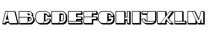 Mafia Hollow Regular Font UPPERCASE