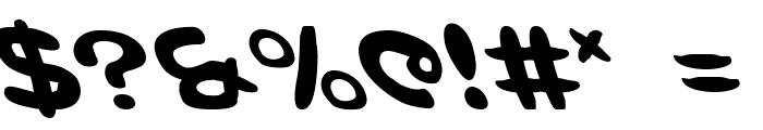 Magic Beans Leftalic Font OTHER CHARS