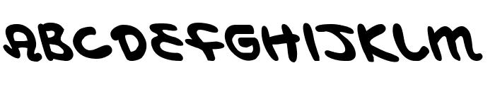 Magic Beans Leftalic Font UPPERCASE