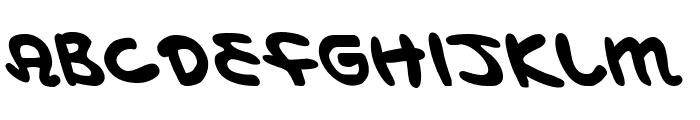 Magic Beans Leftalic Font LOWERCASE