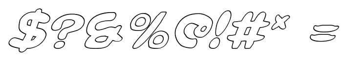 Magic Beans Outline Italic Font OTHER CHARS