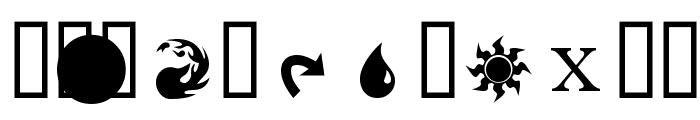 MagicSymbols Font LOWERCASE