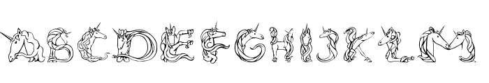 Magical Unicorn Light Font UPPERCASE