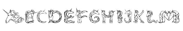 Magical Unicorn Light Font LOWERCASE