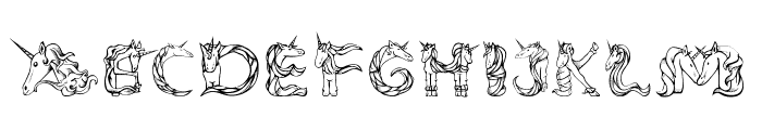 Magical Unicorn Princess Font LOWERCASE