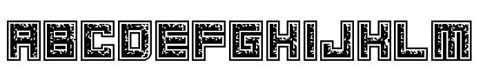 Magnetic Debris Regular Font UPPERCASE