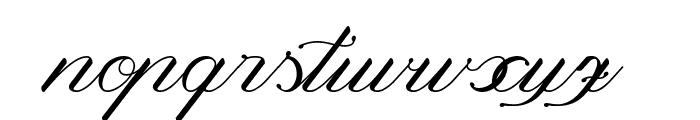 Magnolia  Italic Font LOWERCASE