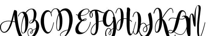 Magnolia Sky Font UPPERCASE