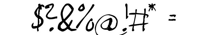 Magnus Handwriting Font OTHER CHARS