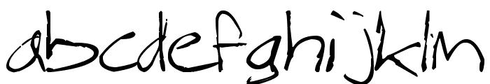 Magnus Handwriting Font LOWERCASE