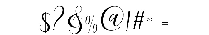MaheriaScript Font OTHER CHARS