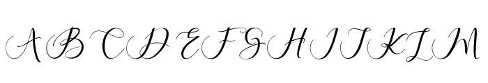 MaheriaScript Font UPPERCASE