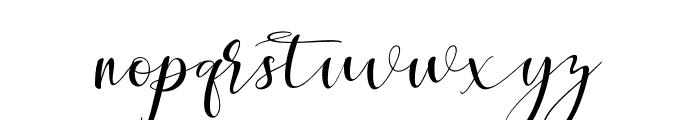 MaheriaScript Font LOWERCASE