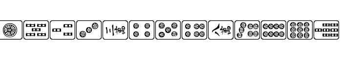 Mahjong Plain Font UPPERCASE