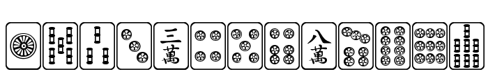 Mahjong Plain Font LOWERCASE