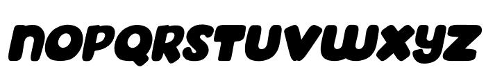 Mahoney Tilted Font UPPERCASE