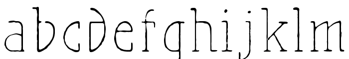 MaiersNr.21Pro-Light Font LOWERCASE