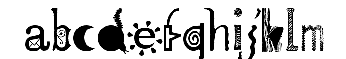 Mailart Font LOWERCASE