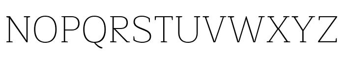 Maitree ExtraLight Font UPPERCASE