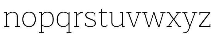 Maitree ExtraLight Font LOWERCASE