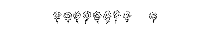 Maja's Flowers Font OTHER CHARS