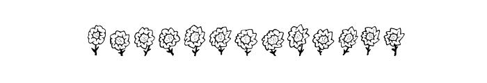 Maja's Flowers Font UPPERCASE