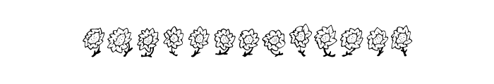 Maja's Flowers Font LOWERCASE