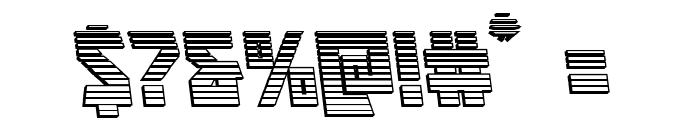 Major Force Chrome Leftalic Font OTHER CHARS