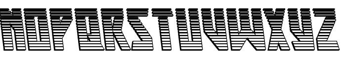Major Force Chrome Leftalic Font UPPERCASE