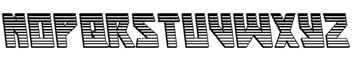 Major Force Chrome Leftalic Font LOWERCASE