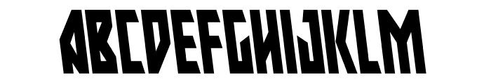 Major Force Condensed Leftalic Font UPPERCASE