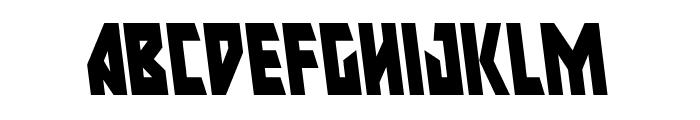 Major Force Condensed Leftalic Font LOWERCASE