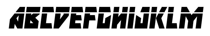 Major Force Laser Italic Font LOWERCASE