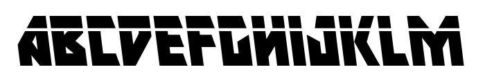 Major Force Laser Leftalic Font LOWERCASE