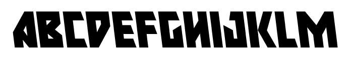 Major Force Leftalic Font LOWERCASE