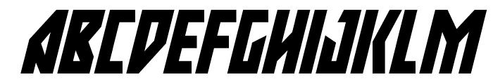 Major Force Super-Italic Font UPPERCASE