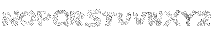 MajorSketchy Font LOWERCASE