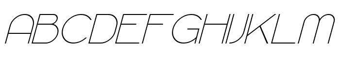 Majoram Italic Font UPPERCASE