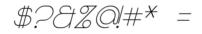 Majoram Sans Italic Font OTHER CHARS
