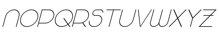 Majoram Sans Italic Font UPPERCASE