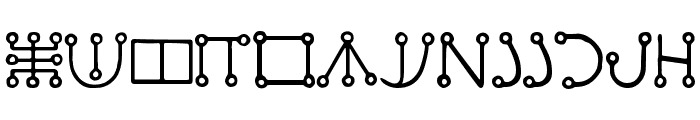 Malachim Font LOWERCASE