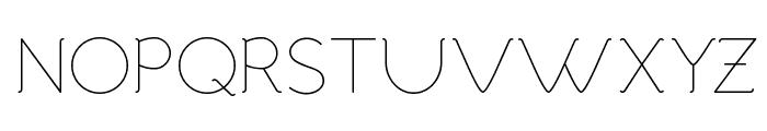 Malandrino Thin Font UPPERCASE
