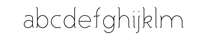 Malandrino Thin Font LOWERCASE