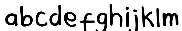 Mala's Handwriting Font LOWERCASE